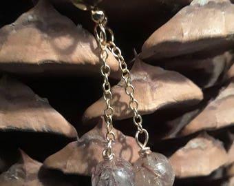 Golden Rutilated dangle earrings