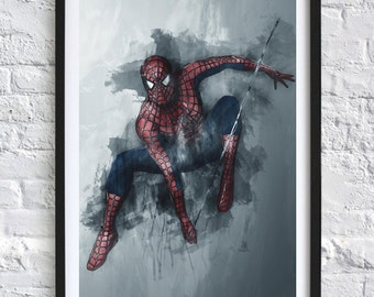 Avengers - Spiderman 'Watercolor' A4 Print