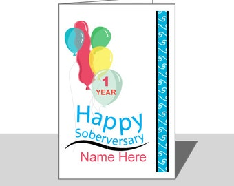 AA Birthday or Anniversary card, editable, printable customize this card