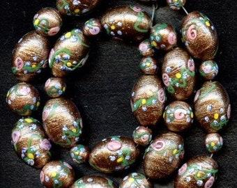 Deco Aventurine Floral (Wedding Cake) Beads