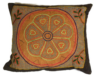 Shipibo Decorative Cushion Peruvian Pillow Amazon Ceremonial Ayahuasca Visionary Ethical Vegan Tribal Boho Chic Wedding Christmas Gift
