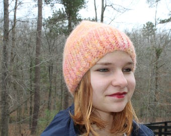 Creamsicle Alpaca Hat