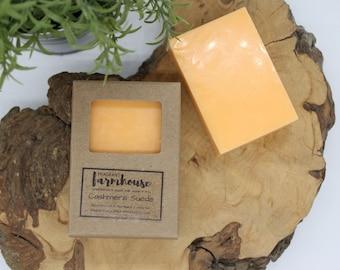 Cashmere Suede - Mens Soap - Goats Milk - All Natural - Farmhouse - Fresh  - Natural Soap - Goats Milk Soap - Moisturizing - Soap for Men
