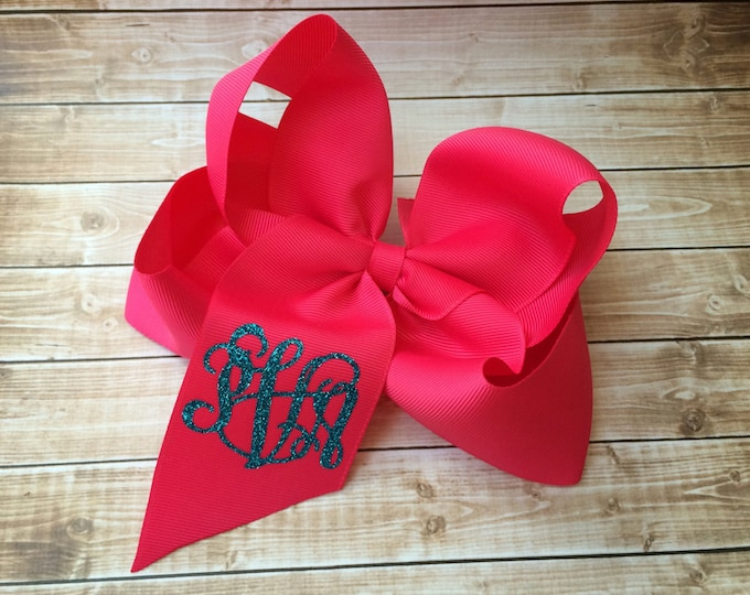 Monogram Hair Bow, Monogrammed Hair Bows, Monogrammed Gifts, Hair Bows for Girls, Boutique Hair Bows, Hair Accessories