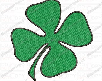 4 Leaf Clover Four Embroidery Design in 1x1 2x2 3x3 4x4 and 5x5 Sizes