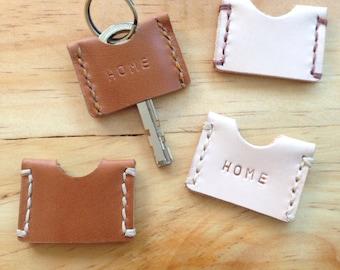 Leather Key Cover ,Key cap,Key Organizer,Key Case,Key Topper,Set of two
