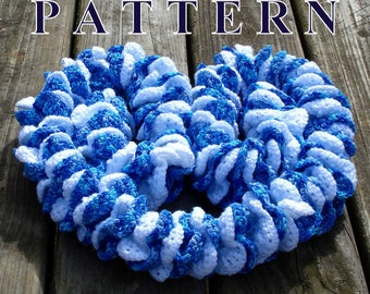 Scarf pattern, crochet scarf pattern, women scarf crochet pattern, scarf crochet PDF pattern, ruffle scarf pattern PDF OlgaAndrewDesigns108