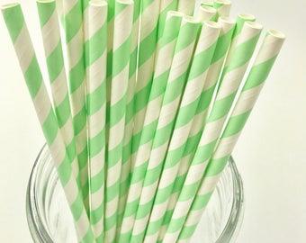 Light Green Paper Straw Pack