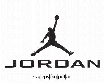 Jordan Inspired Logo Vector Art, svg dxf fxg eps pdf ai format download  jumpman