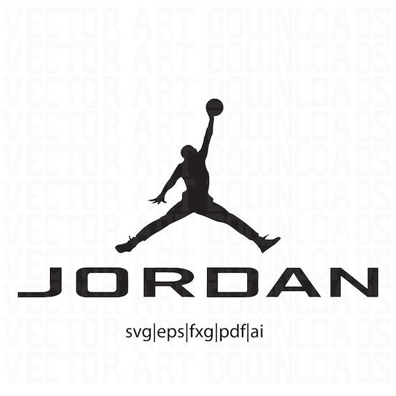 Jordan Inspired Logo Vector Art Svg Dxf Fxg Eps Pdf Ai Format