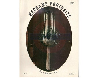 Macrame Portraits Book 5 - 10 Vintage Macrame Patterns Instant Download PDF 23 pages