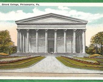 Vintage Postcard - Students on the Steps of Girard College in Philadelphia, Pennsylvania  ((3312)