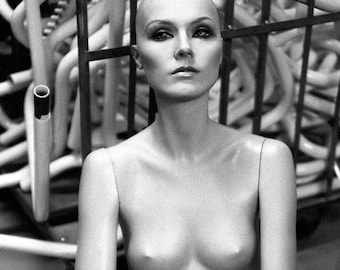 Black and White Nude Mannequin Photography Edgy Wall Art - Secret Society No19