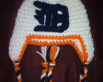 Crochet Detroit Tigers Hat