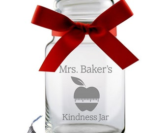 Teacher's Personalized Candy Jar