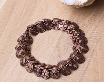 Copper bracelet - Egyptian Spiral oxidized copper bracelet | Copper jewellery | Wirework jewelry | Ancient Egypt bracelet | Classic jewelry