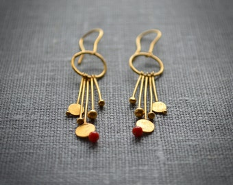 Drop earrings. 18k gold filled