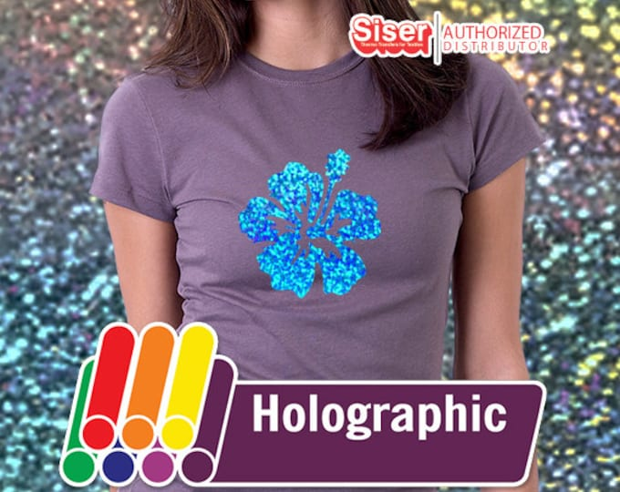 "9"" x 20"" / 1-sheet Siser EasyWeed Holographic HTV - Heat Transfer Vinyl"
