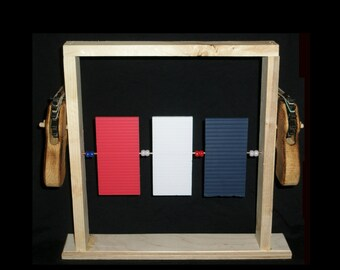 Rubber Band Pistol Target Set; Wooden Toy, Wooden Rubber Band Gun; Classic Rubber Band Pistol; Archery Target Set; Children's Playset;