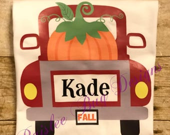 Pumpkin Truck Shirt, Halloween Shirt, Boy's Halloween Shirt, Personalized Halloween Shirt, Trick or Treat Shirt, Pumpkin Patch Shirt