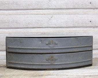 Vintage Industrial Wedge Storage Drawers