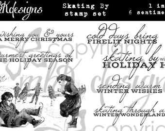 Skating By Digital Stamp Set