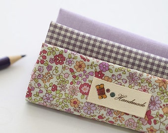 Lovely Violet Daisy on Cotton FAT Eighth set of 3, U269