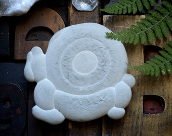 Fairy Stone, Harricana Stone, Abitibi Quebec, Canadian fossil, clay fossil, talisman, touchstone, concretion