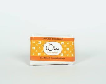 Sapone Biologico Cannella e Mandarino - processo a freddo - cold process - olive oil - Natural - Handmade Soap