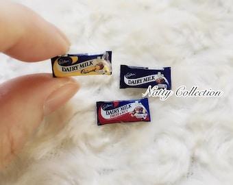 Miniature Chocolate Bar,Miniature Chocolate Pack,Miniature Chocolate,Miniature Food,Dolls House Food,Miniature Jewelry,DIY,gifts idea