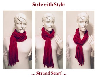 Crocheted Strand Scarf...