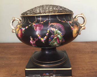 Rare Art Deco Ducal Carnival  Jardinière vase 1930's Oriental