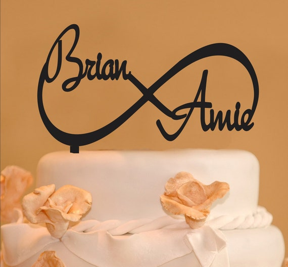 Infinity Wedding Cake Topper Infinity Design With Your Names