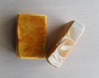 Naturally Colored Handmade Swirl Soap