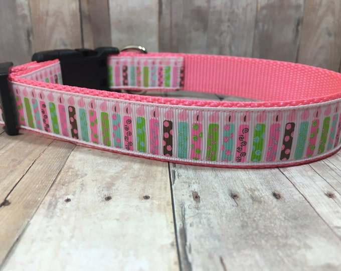 "The Make a Wish | Designer 1"" Width Dog Collar 