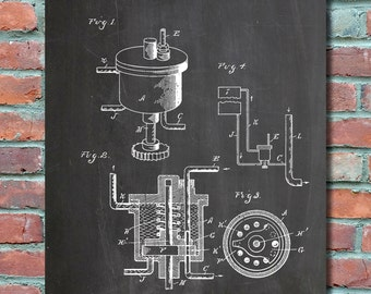 Ford Carburetor Wall Art Print, Patent Art, Patent Poster, Blueprint, Patent Print, Plexity Prints #061