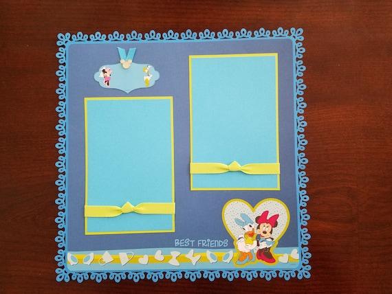 Disney Minnie Mouse Daisy Duck Premade Scrapbook Layout 1