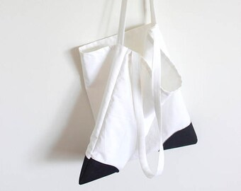 Modern Shopping bag/White Grocery Tote/cotton tote/Reusable Grocery Bag/designer tote/minimalism/recycle/Japanese/Ecofriendl/everyday