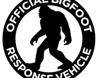 official bigfoot response vehicle funny decal sticker vinyl for car window Sasquatch fan