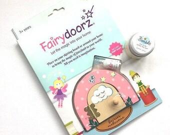 Personalised Sweet dreams kawaii fairydoor set + free sleep balm-fairydoor-opening-fairydoor-fairy gift-childrens-gift-christening-birthdays