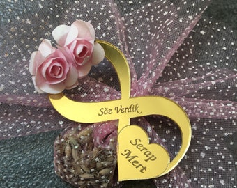 Magnet infinity sign perspex gift for wedding favor
