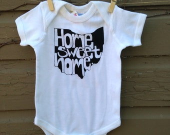 Ohio Baby Onesie, Bodysuit Home Sweet Home