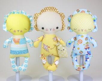 SALE Lion Baby PDF Doll Pattern