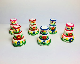 6 Mini Mexican Wedding Cake Party Favors