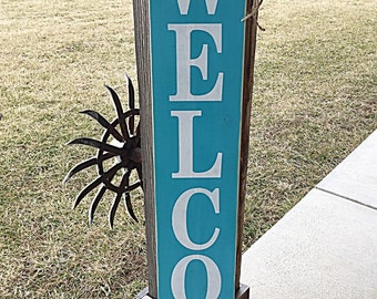 Large welcome signs, Rustic lake house sign,Welcome porch signs, Front porch decor, Rustic welcome signs, Front porch wood welcome signs