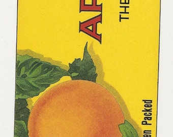 12 Old different APRICOT / CHERRIES Crate Labels