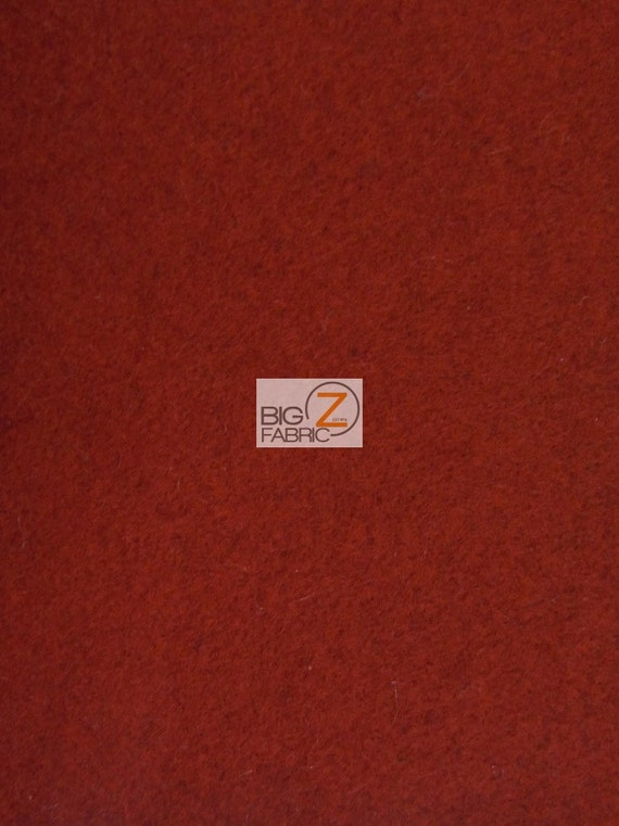 Solid Melton Wool Apparel Fabric Red By The Yard Blankets