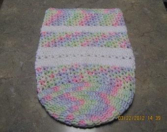Baby Snuggle Sack / Cocoon  - rainbow pastels/white