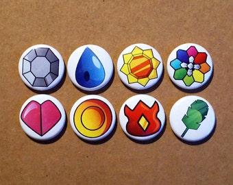 "Pokemon Badges pinbacks buttons 1"""