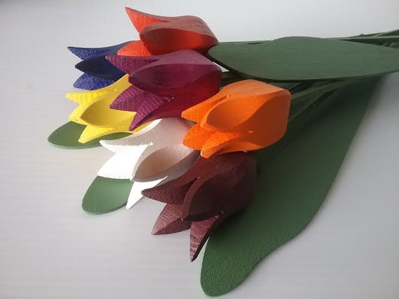 "Wooden Tulips Bouquet ""Pluto"""